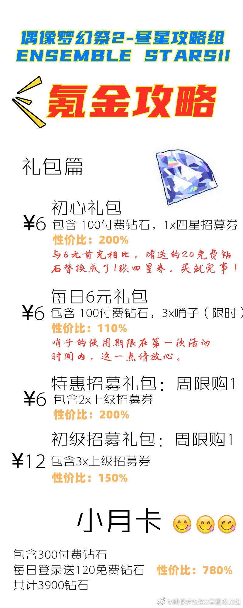 偶像梦幻祭2怎么氪金最合算 平民氪金指南