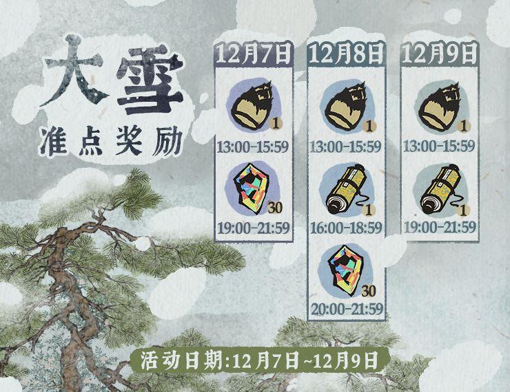 江南百景图大雪准点奖励活动内容一览