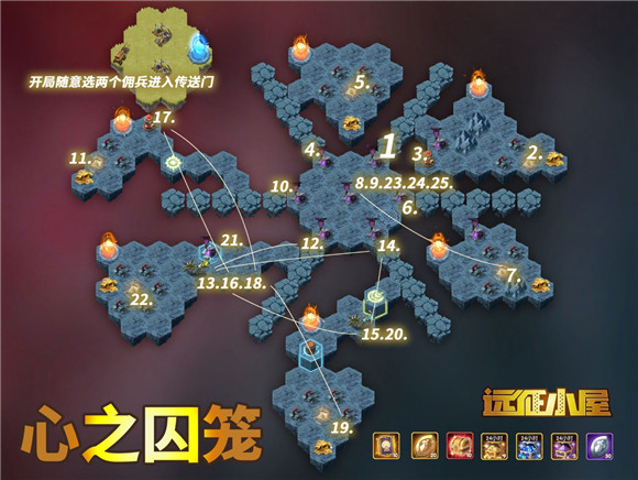 剑与远征心之囚笼通关攻略路线图一览