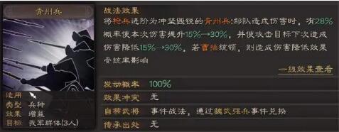 三国志战略版青州兵战法使用及适用队伍推荐