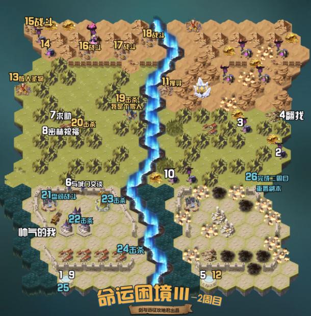 剑与远征命运困境3攻略路线图详细解析