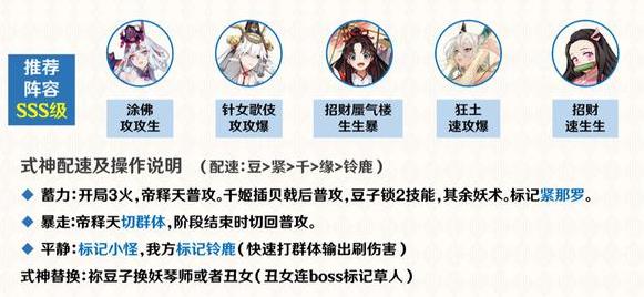 阴阳师善恶终章帝释天阵营阵容推荐