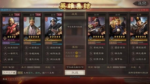 三国志战略版英雄集结第一天阵容搭配攻略