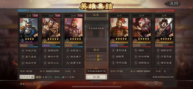 三国志战略版英雄集结第二天阵容搭配攻略
