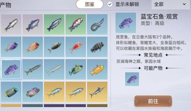 天谕手游观赏鱼坐标汇总介绍
