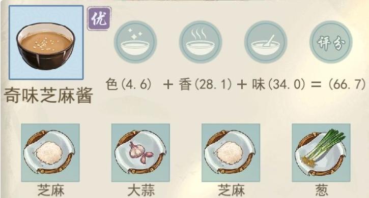 江湖悠悠奇味芝麻酱食谱配方一览