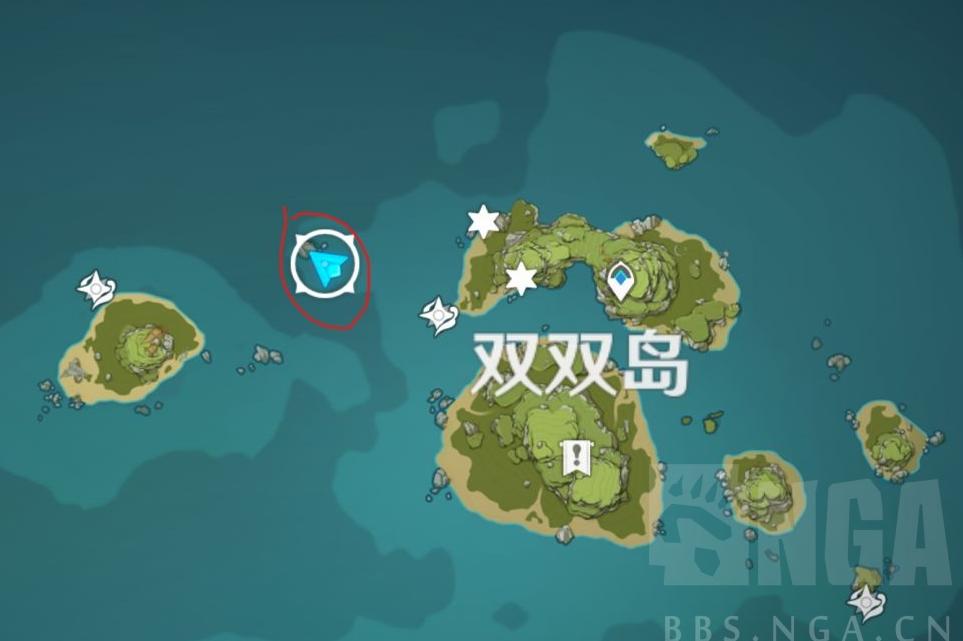 原神海岛西北角礁石爱心彩蛋位置介绍
