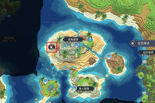神角技巧试炼岛高级宝箱在什么位置