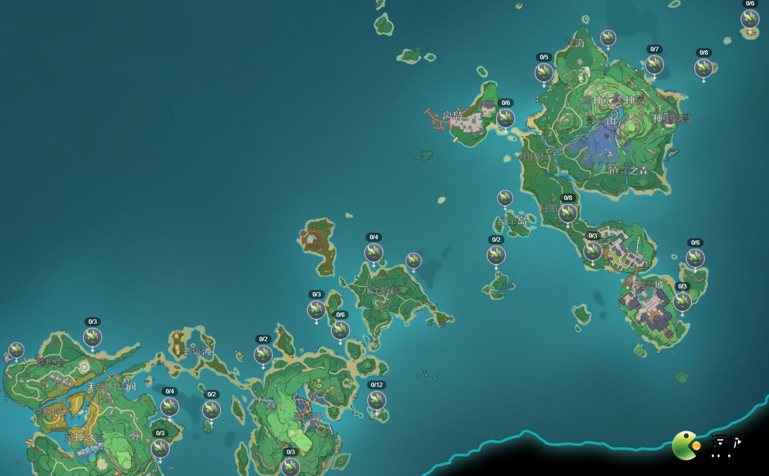 原神海草刷新位置坐标一览