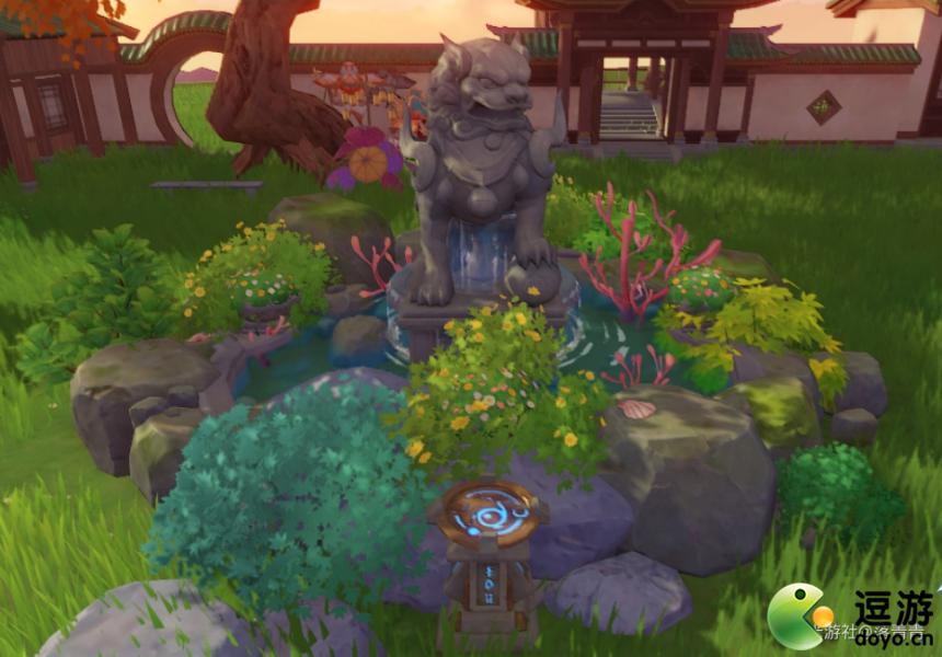 原神家园如何建造出中式喷泉