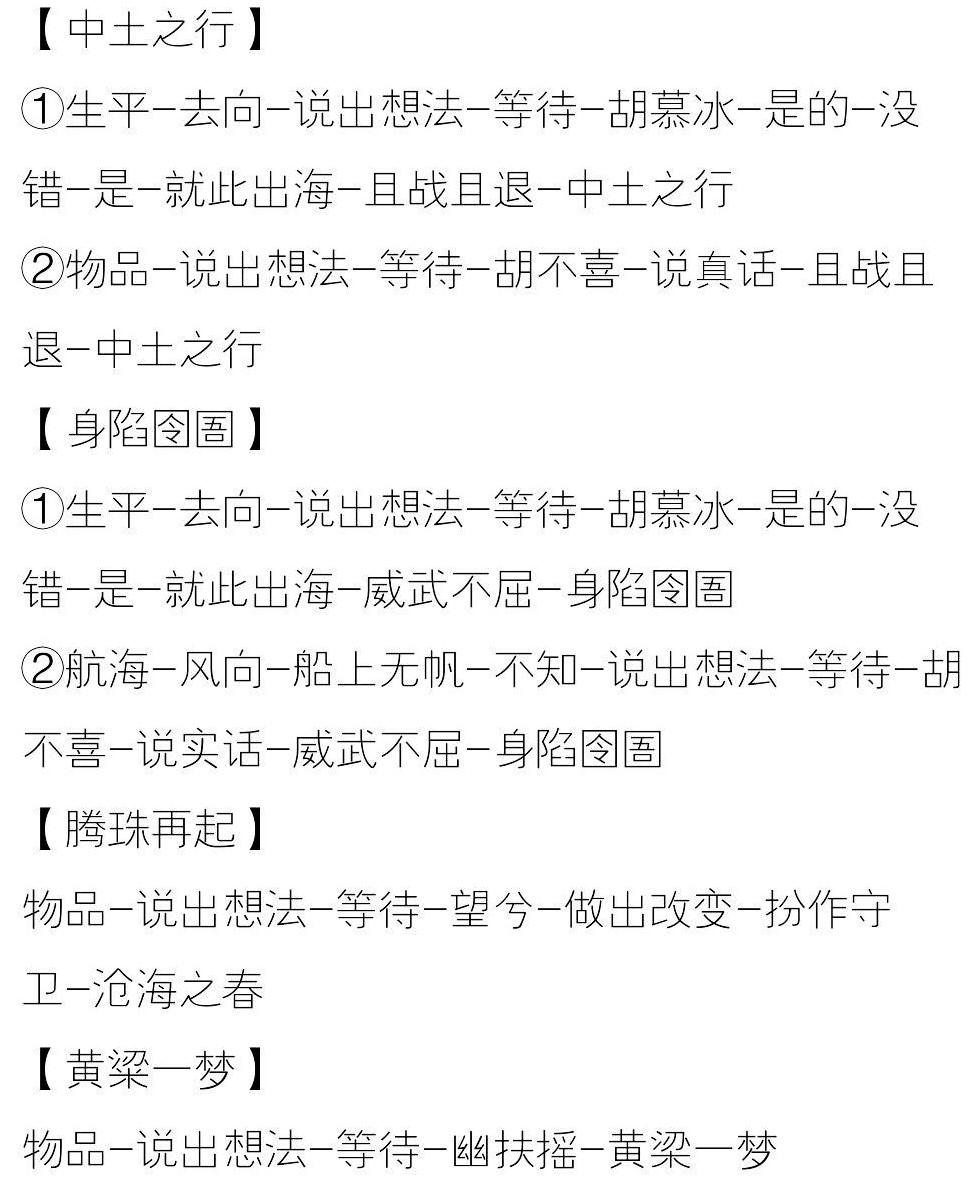 一梦江湖浮生星旅姚慕奇星阵全结局剧情攻略