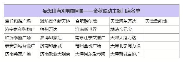 妄想山海呷哺呷哺联动主题店活动及地址一览