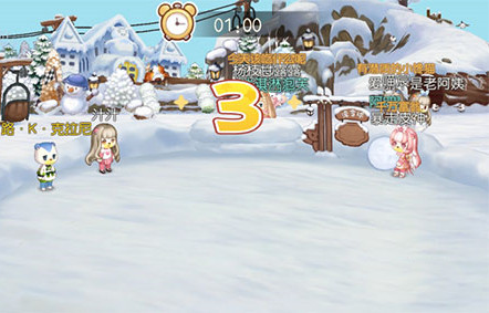 奥比岛手游滚雪球怎么玩