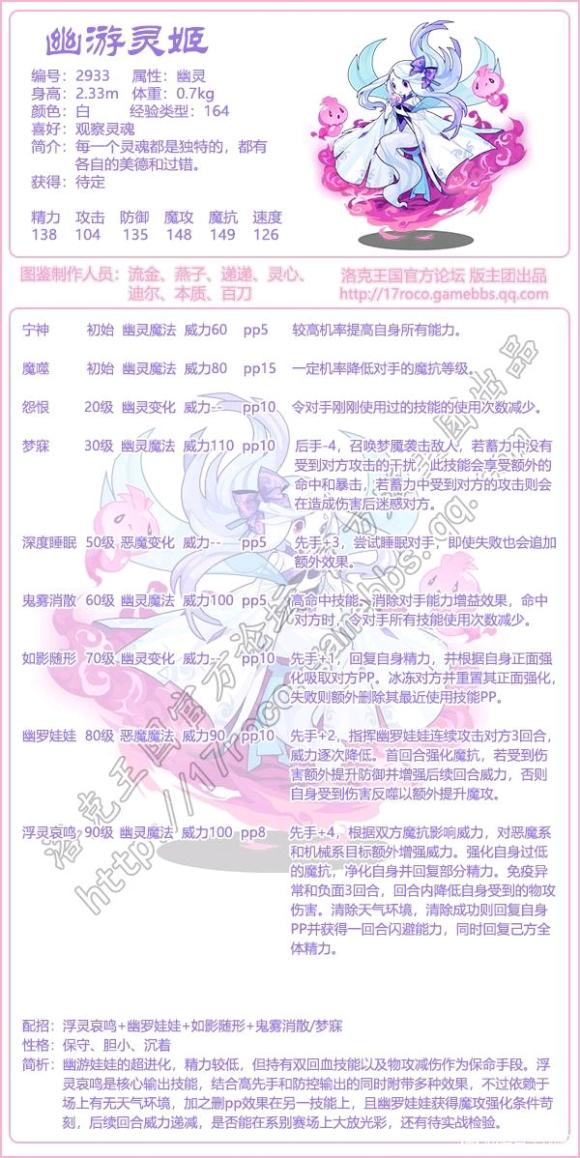 《【煜星娱乐登陆注册】洛克王国幽游灵姬技能表分享》