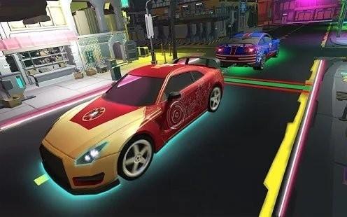 霓虹燈汽車拉力截圖