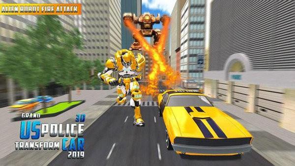 大警车机器人救援战斗截图