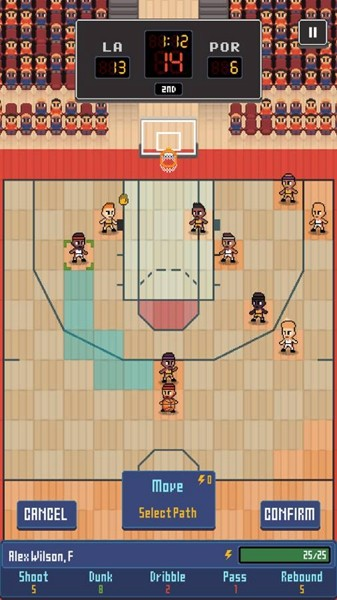 篮球联赛战术截图