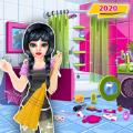 娃娃屋清洁的手艺