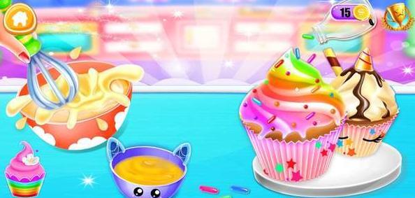 独角兽纸杯蛋糕烘培厨房截图