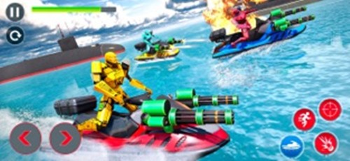 喷气滑雪机器人潜艇战截图