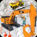 挖掘機筑路機施工