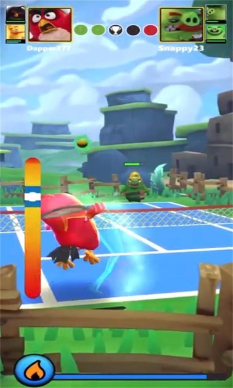 愤怒的小鸟网球战截图